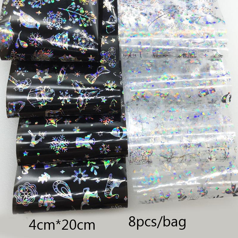 Image 5 - 1 Box Shell Nail Foil Holiday Seaside Design Nail Transfer Foil Sticker Manicure Nail Art Decorations-in Stickers & Decals from Beauty & Health