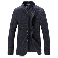 2019 Autumn Men's Suit Jacket Casual Fashion High Quality Blazer Men Jacket Men's Woolen Business Stand Collar Blazers Man