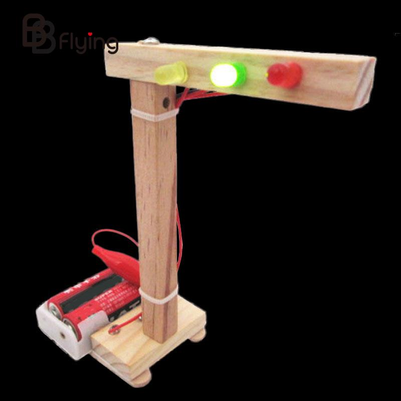 DIY Traffic Light Kids Children Intelligence Assembly Experiment Toys Gifts