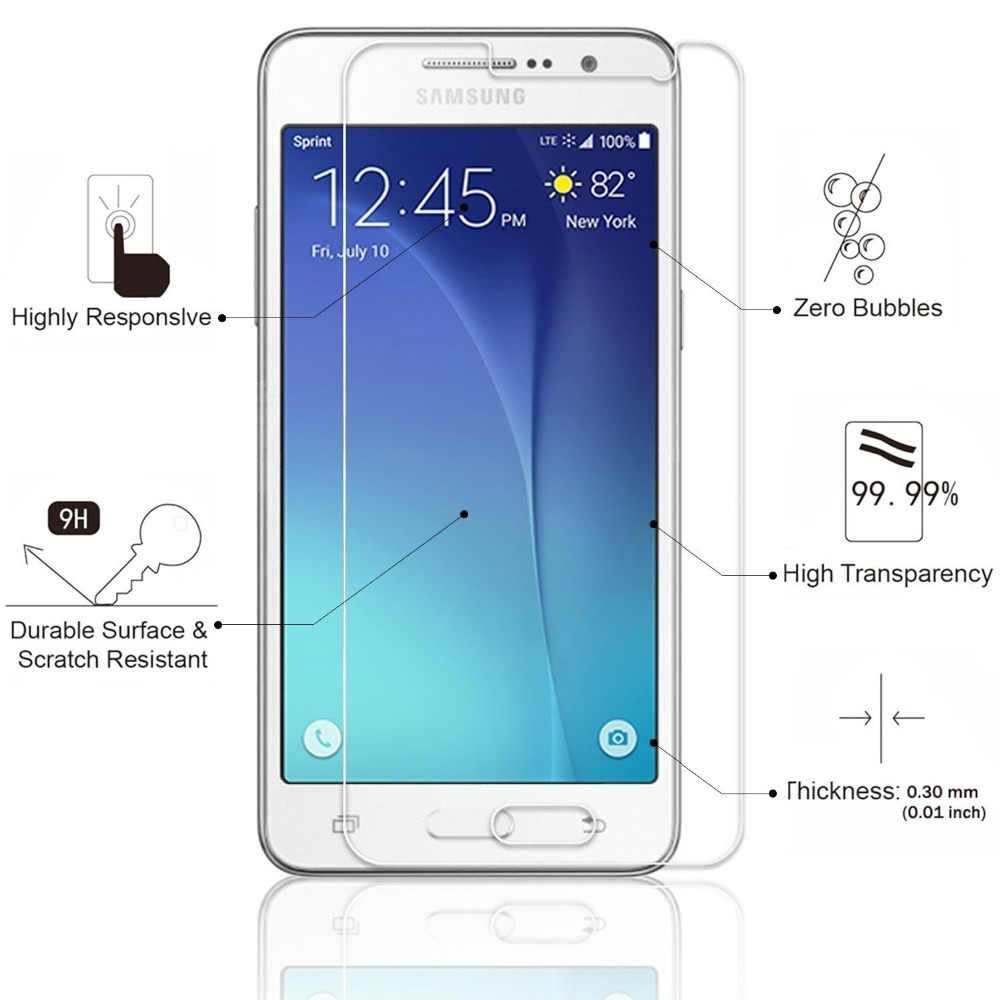 9 H Anti anti-vurmak Temperli Cam Ekran Koruyucu için Samsung Galaxy Grand Başbakan VE Duos SM-G531H/DS G531F g530H koruyucu film