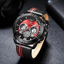 NAVIFORCE hommes montre de luxe marque de mode sport Quartz montres mâle en cuir calendrier étanche horloge pour hommes Relogio Masculino