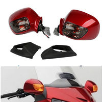 Pair Rear View Mirror W/Turn Signal for Honda Goldwing GL1800 2001-2012 03 04 05 1