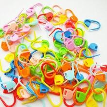 Clip-Markers-Holder Stitch-Needle Knitting Crochet Fuctional-Tools Locking Plastic 100pcs/Lot