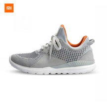 2016 nueva original xiaomi smart 90 bluetooth 4.0 app inglés superior cómodo y durable suela running zapatillas gris