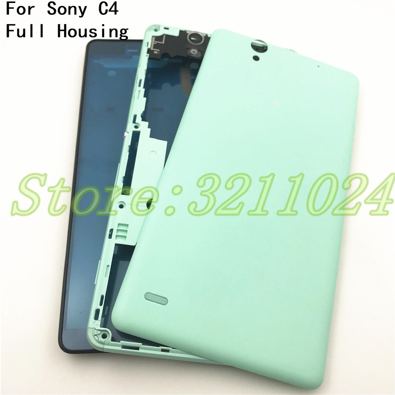 Good quality Original For Sony Xperia C4 S55T E5333 New housing Middle Frame panel Cover With Battery cover+NFC