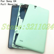 купить Good quality Original For Sony Xperia C4 S55T E5333 New housing Middle Frame panel Cover With Battery cover+NFC по цене 772.46 рублей