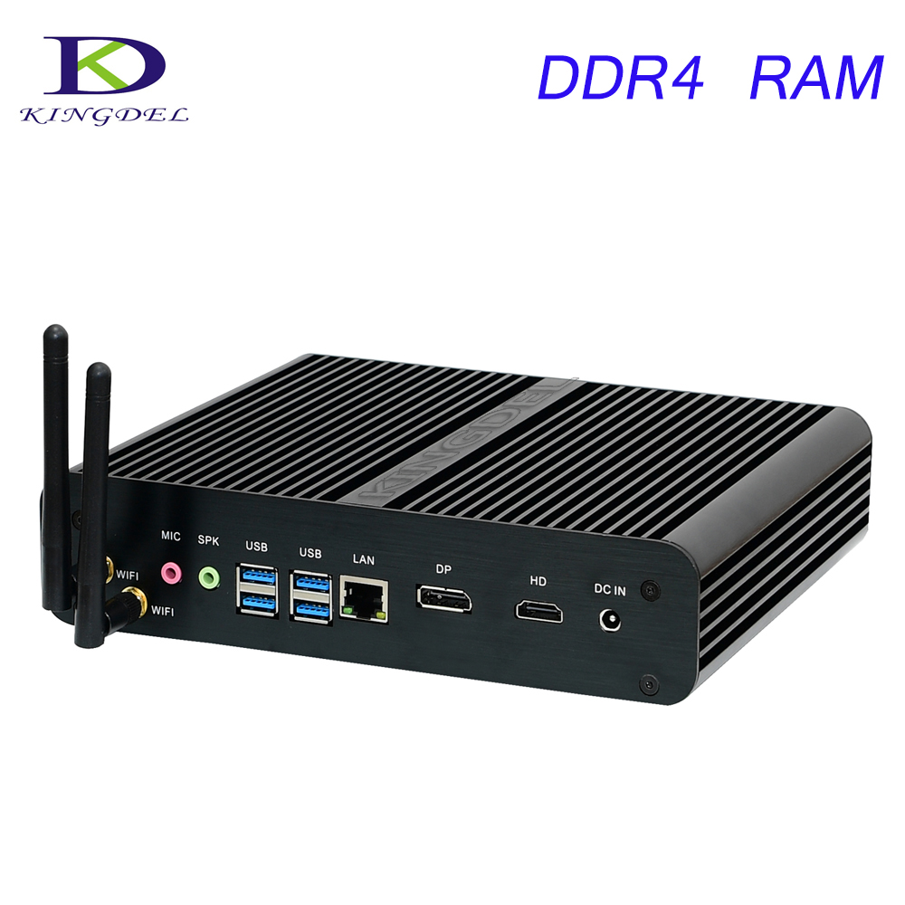 Desktop PC With DDR4 RAM 7th Gen Kaby Lake Core I7 7500U Mini PC Windows 10 Fanless Computer 4K HDMI DP HTPC 300M WIFI DHL Free