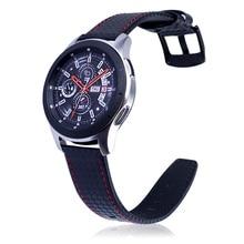 Кожаный ремешок для часов из углеродного волокна для HuaWei samsung gear S3, ремешок для MOTO 360, Ширина 22 мм, кожаный ремешок для часов