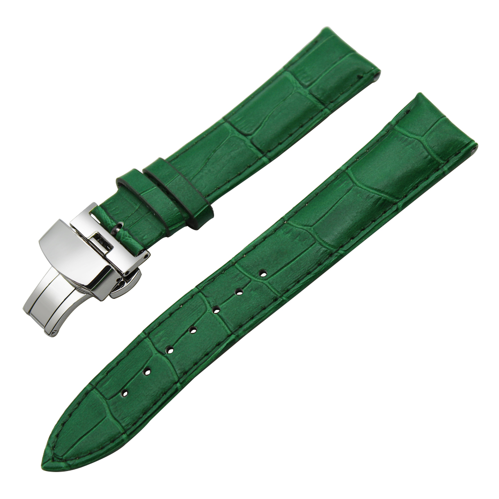Image 3 - 14/16/18/19/20/21/22/23/24mm Genuine Leather Watch Band for Frederique Constant Stainless Steel Buckle Strap Wrist Belt Bracelet-in Watchbands from Watches