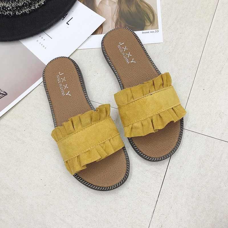 Vrouwen Sandalen Flips Flops Zomer Stijl Schoenen Flat Met Sandalen Mode Vrouwelijke Slides Plus Grote Size35-40 sandalias mujer 2019