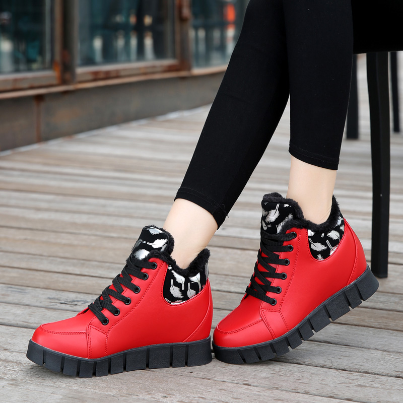 NEW Ms. outdoor sports shoes women Running shoes  Womens Height within the increase plush warm winter snow sneakers shoes womenNEW Ms. outdoor sports shoes women Running shoes  Womens Height within the increase plush warm winter snow sneakers shoes women