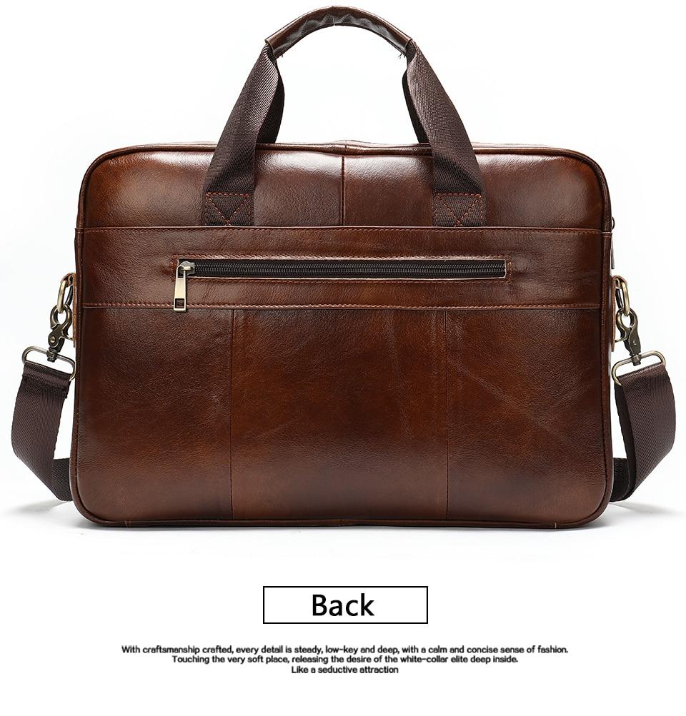 7 Bag Men's Genuine Leather Briefcase Male Handbags Lawyer Man Laptop Bag Leather for Men Messenger Bags Men's Briefcases
