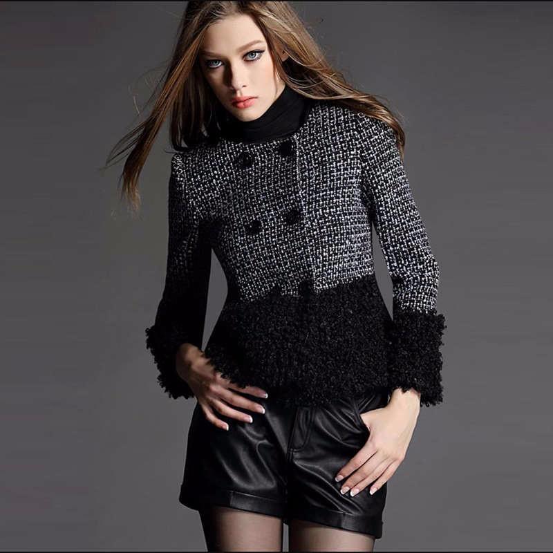 fall winter black wool coat 2