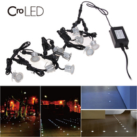 CroLED LED string lights outdoor waterproof 10LEDs 2835SMD 4500K IP67 string light in corridors showrooms shopping malls hotels