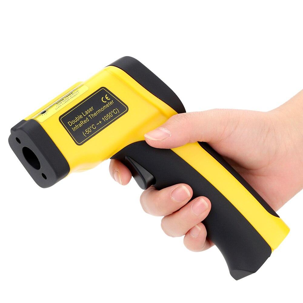 Alta Precisione Senza contatto a Infrarossi Termometro Digitale A Infrarossi Temperatura Tester Pirometro Laser Doppio