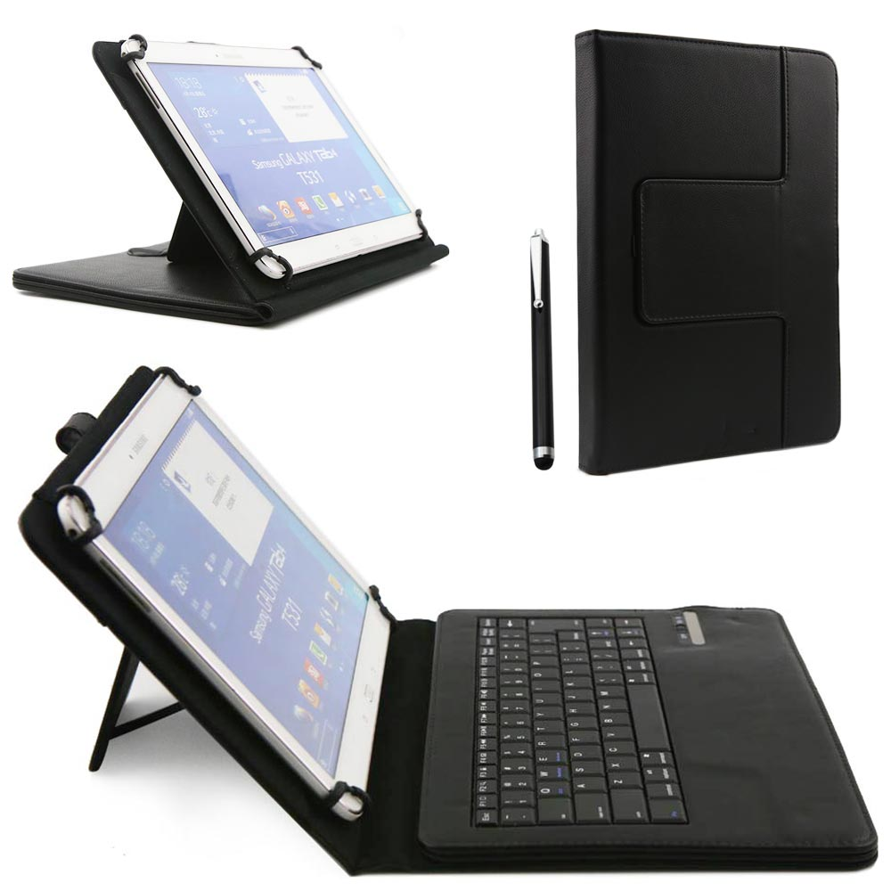 Detachable Wireless Bluetooth Keyboard PU Leather Cover Case For iPad 2 3rd 4th For Samsung Galaxy Note 10.1 N8000 Tab 2 P5100 wireless bluetooth keyboard with touchpad leather cover case for samsung galaxy note pro tab pro 12 2 inch p900 p901 p905