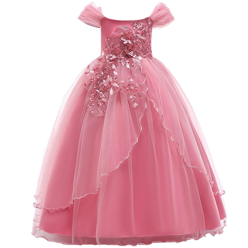 Vestidos Flower Girls dresses for formal party Baby Girls Sleeveless embroidery tutu Princess Wedding Dress Children Party baby girl princess dress flower decoration children dresses sleeveless for wedding party girls dress clothing