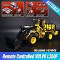 NOVA LEPIN 20006 série technic 1636 pcs Volvo L350F pá carregadeira Modelo blocos de Construção Tijolos Compatíveis com 42030 Presente