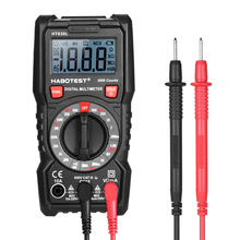 True-RMS Digital Multimeter Button 2000Counts With Analog Bar Graph AC/DC Voltage Ammeter Current Ohm Manual