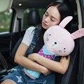5 Color Lindo Bebé Grande Amortiguador de la Felpa Suave Animales Conejo Coche del Cinturón de Seguridad Cubre los Accesorios Interiores de Automóviles 1 unids
