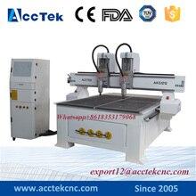 China Acctek cheap price Mulit head cnc router 1200 1200mm cnc lathe machine prices cnc 3d