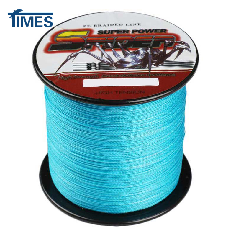 Spider 4 strands 300m 6 100lb ultra strong fishing braided for Floating fishing line