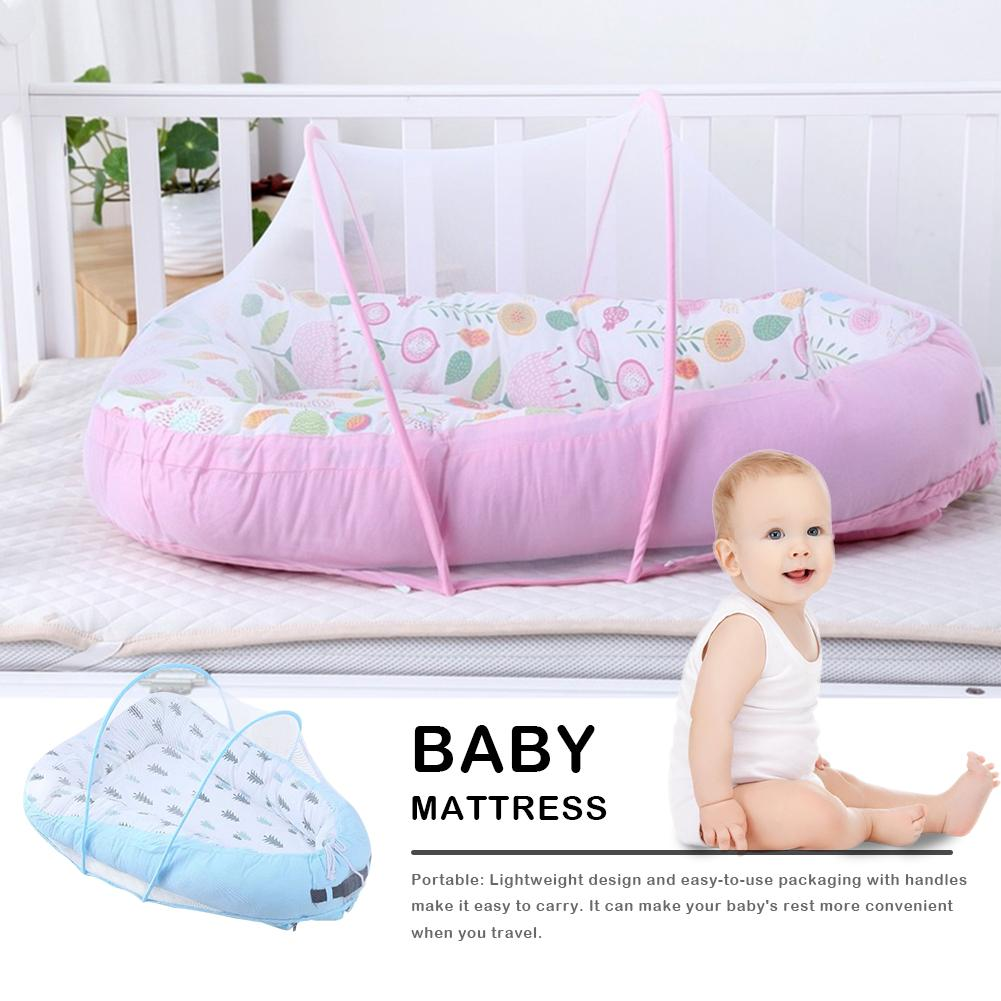 Baby Nest Bed Crib Portable Removable And Washable Crib Travel Bed For Children Infant Kids Cotton Cradle With Mosquito Net