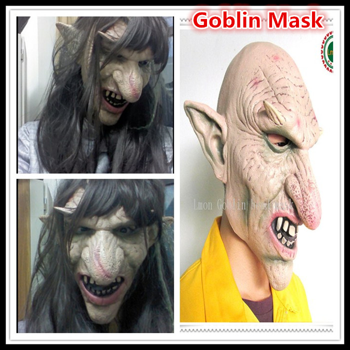 Halloween Party Cosplay Scary Goblin Mask /Big Nose Terror Monster Online Game Masks Silicone Latex Mask Masquerade Party mask