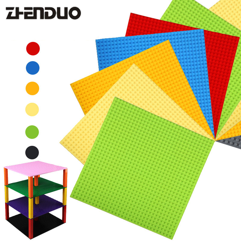Zhenduo Small Bricks Building Block DIY Baseplates 32*32 Dots Base plate 25*25cm Toys Two Sides Compatible block gonlei new colors small bricks baseplates 32 32 dots base plate size 10 10 diy building blocks toys compatible with lepin