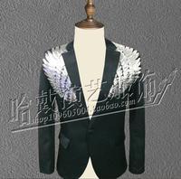 S 5XL ! New Sequins Suit Men performance Blazer nightclub Bar male singer DS DJ show suit Stage Costumes 4XL 5XL !