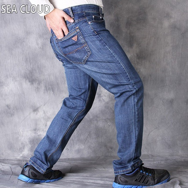 82 Free Shipping pants Leisure&Casual pants, Newly Style Zipper fly Straight Cotton Men Jeans long trousers size 36-52