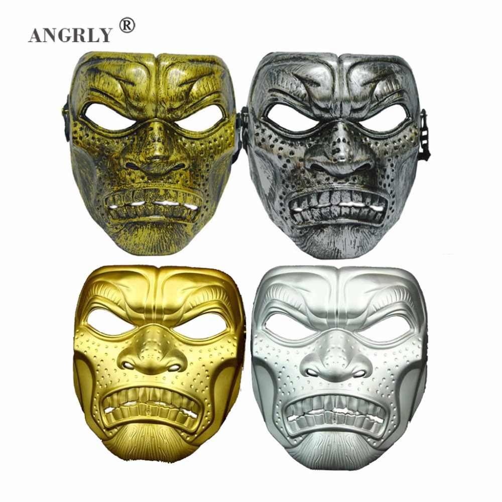 Spartan Whole Face Mask CS Skull Mask Halloween Masks Party Toys Adult  Ancient Rome Warrior Movie Theme Props Party Supply