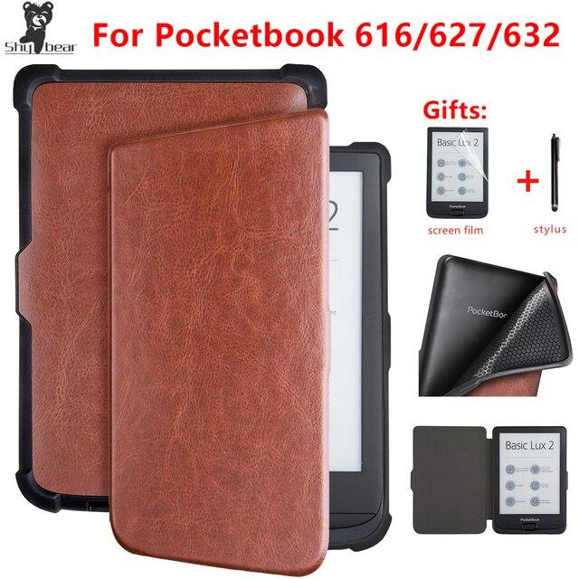 Funda inteligente para Pocketbook 616/627/632 6 ''funda de libro para PocketbooBasic lux2 libro/touch/ funda cubierta lux4 touch hd 3 + regalos