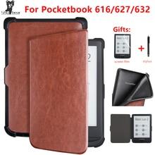 Étui en cuir PU pour Pocketbook 616 627 632, housse intelligente pour Pocketboo Basic Lux2 book/touch/lux4 touch hd 3 6 pouces