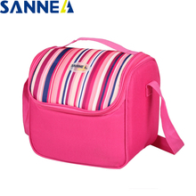 цены SANNE Insulation Food Bags for Men Women Bag for Lunch Cooler Bags Thermal for Lunch Ice Pack Picnic Storage Lunch Bags Folding