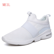 Fashion Black White Man Shoes 2019 Mesh Mens Sneakers Casual Breathable Lace Up Flats Shoes Adult Lightweight Outdoor Trainers white fashion mesh design flats