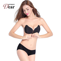 Comeondear Invisible Strapless Bra New Arrivals Breast Petals BB01 Hot Selling Wholesale Black And Khaki Women