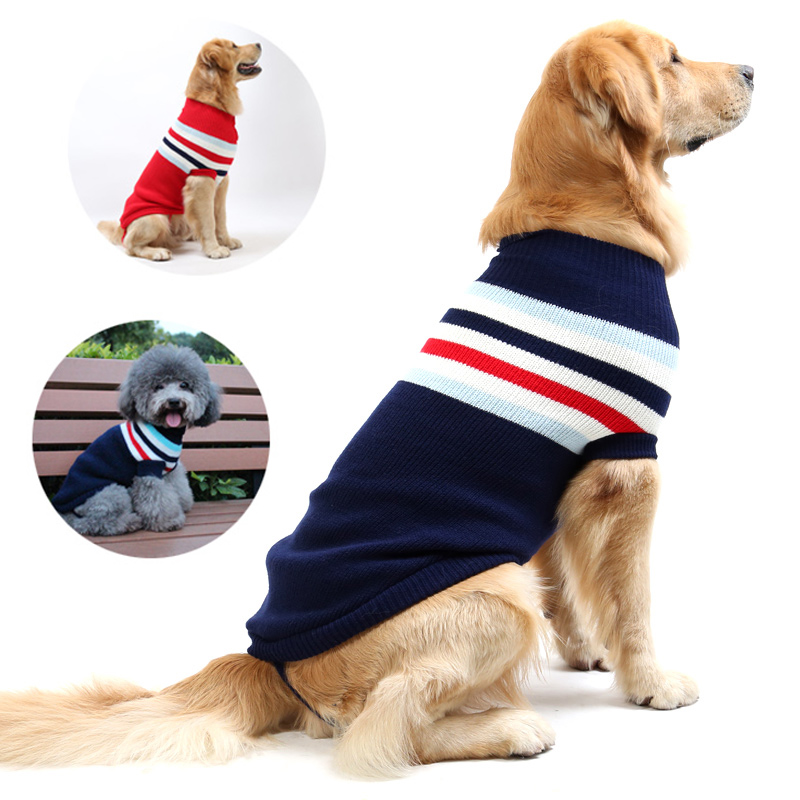 EXPAWLORER Christmas Dog Jumper Sweater with Bell Snowflake Pattern Winter Clothes Soft Knit Black Small