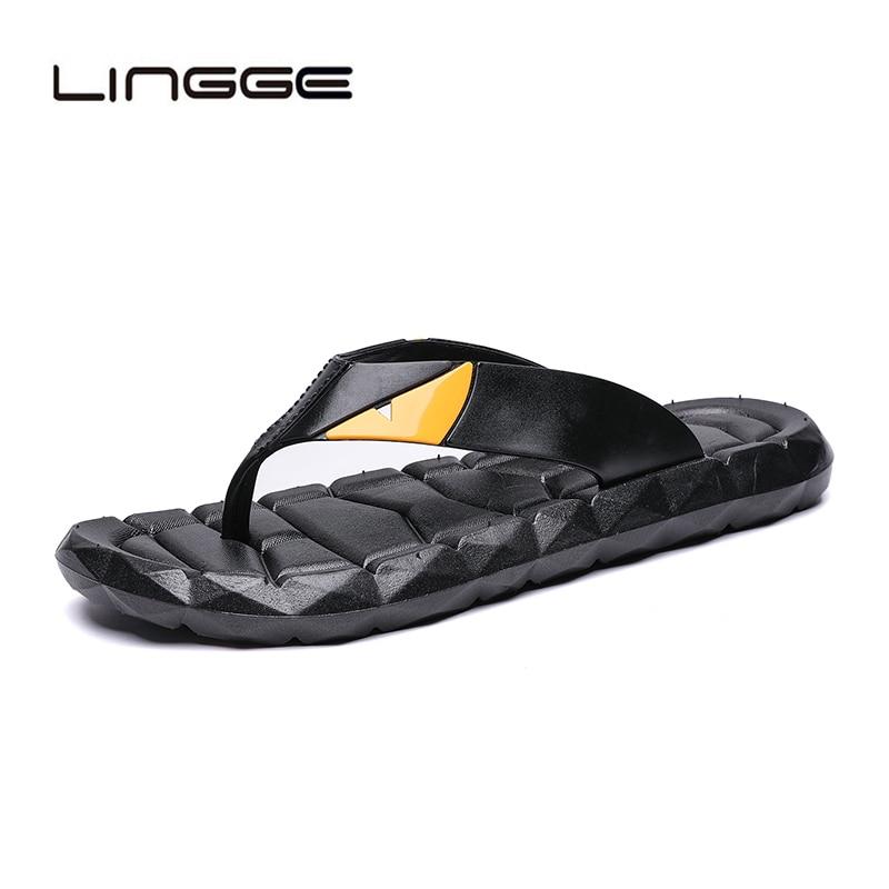 Herrenschuhe Lingge Sommer Männer Flip-flops Bad Hausschuhe Männer Casual Pvc Eva Schuhe Mode Sommer Strand Sandalen Plus Größe 38-46