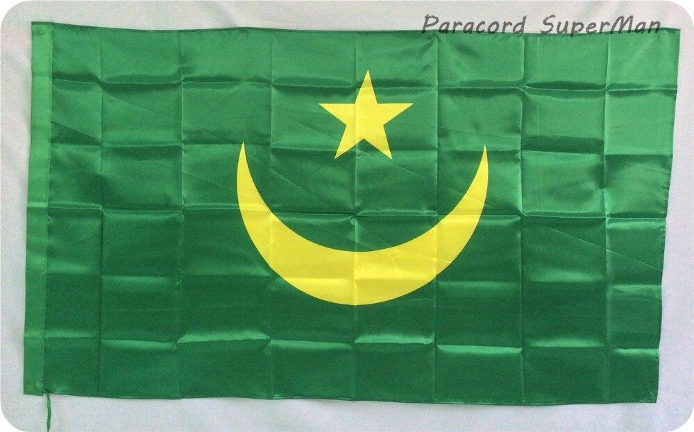 Μαυριτανία 3ft x 5ft Κρεμαστά Σημαία - Ομαδικά αθλήματα - Φωτογραφία 1