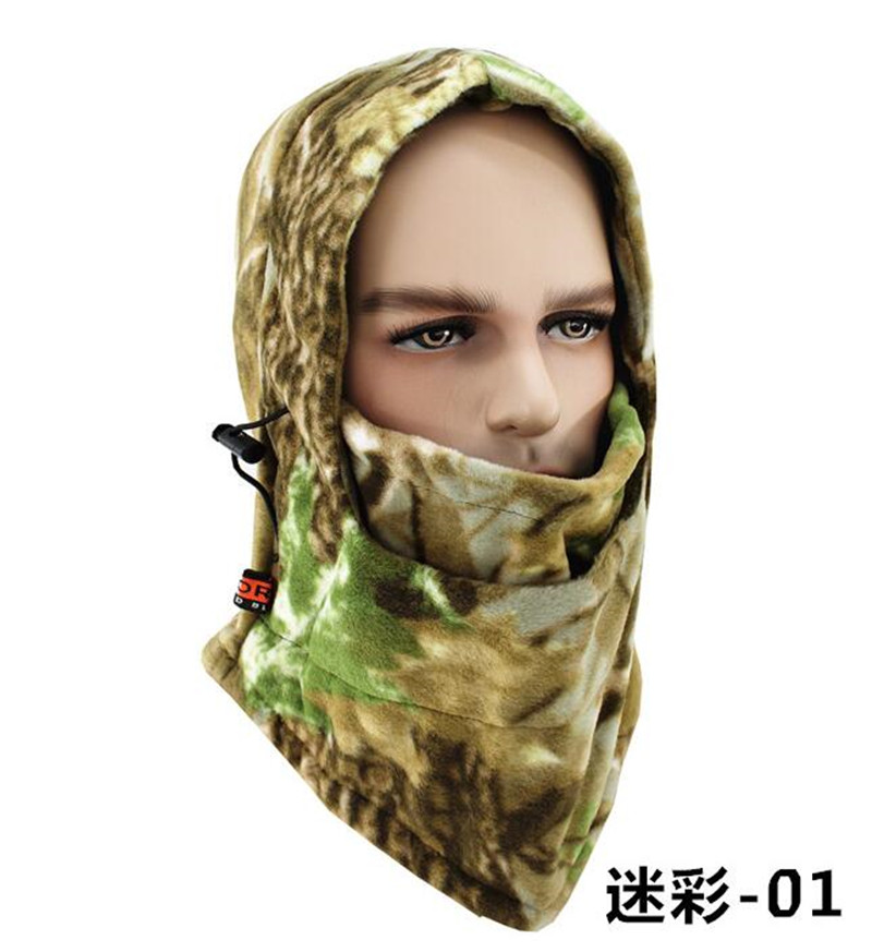 ICESNAKE Motorcycle Winter Ski Hat Men Outdoors Camouflage Headgear Cs Cap Women Defence Hood Cycling Mask Balaclava Beanies in Motorcycle Face Mask from Automobiles Motorcycles