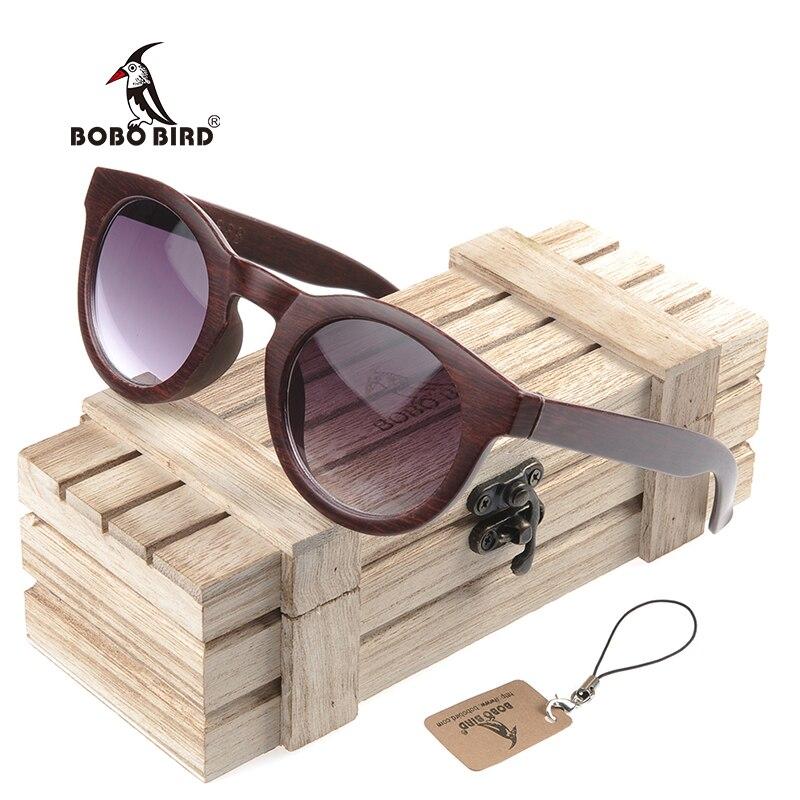 BOBO OISEAU CG012 Simple Cat Eye Design Imitation lunettes de Soleil À La  Main Pas Cher En Plastique Lunettes Boîte En Bois oculos de sol feminino  dans ... a35b631bd3c0