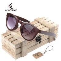 BOBO de AVES CG012 Simple Diseño de Imitación Del Ojo de Gato gafas de Sol de Madera de Ébano Hecho A Mano Caja De Madera gafas de sol feminino Gafas Baratas