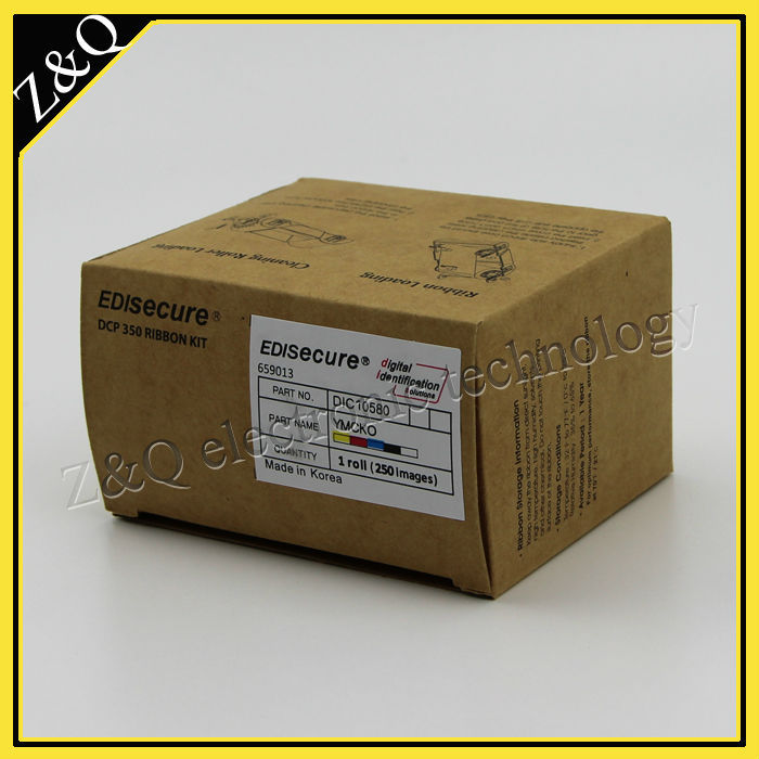 cheap original EDI color ribbon DIC10580 work on EDI DCP350 printer