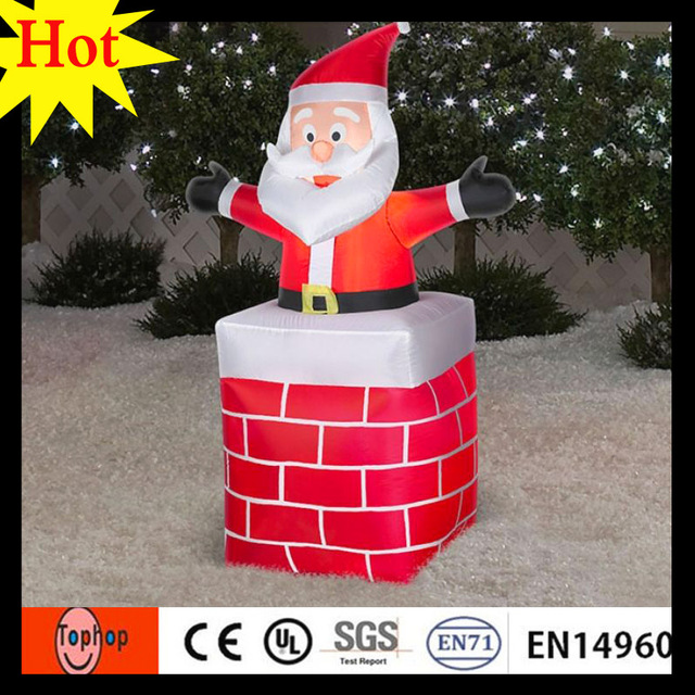 6m 20ft new years eve party supplies big lots christmas santa claus figurines decorations with chimney - Big Lots Christmas Eve Hours