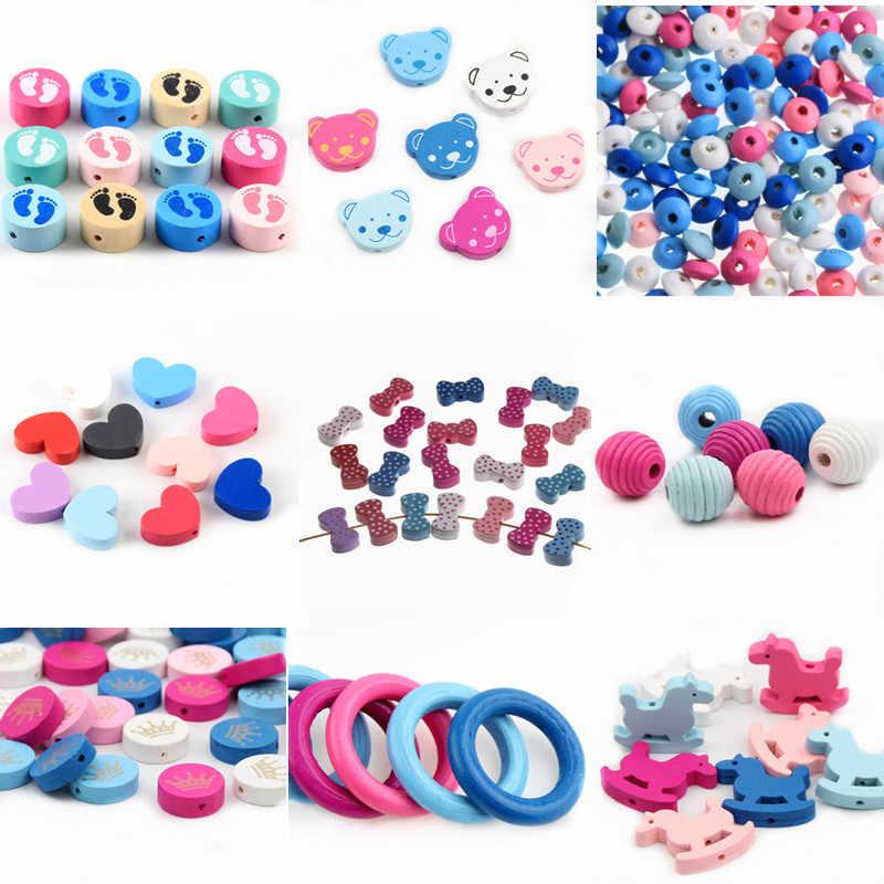 Verscheidenheid Houten Kralen Spacer Kralen Houten Kralen Speelgoed voor Baby Kids Speelgoed Sieraden Makeing DIY Armband Ketting