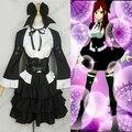 Por Encargo Del Anime Fairy Tail Erza Scarlet Cosplay Mujeres de Halloween Casa Maid Lolita Erza Scarlet Traje