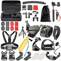 for Gopro Accessories Floating Bobber Tripod stick Monopod Hand Head Chest Strap Adapter Set For Go pro Hero 4 3+ 2 5 xiaomi yi