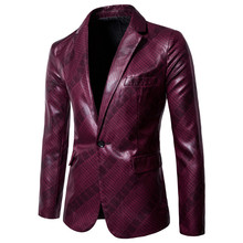 2019fashion mens brand suit jacket style British casual slim formal wedding clothing