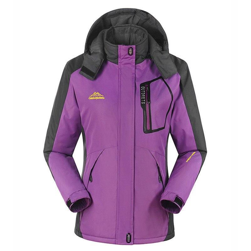 Extérieur hiver femmes vestes de Ski veste de snowboard coloré coupe-vent respirant Ski randonnée vestes filles manteau chaud-30 Deg